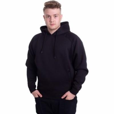 アーバンクラシックス Urban Classics メンズ パーカー ラグラン トップス - Raglan Zip Pocket Black - Hoodie black