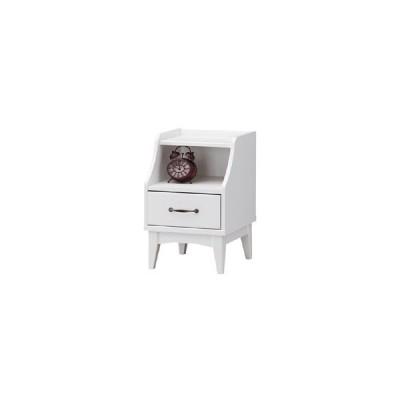 レトロモダンの甘さを抑えた白い家具。ナイトテーブル。 レトロア RTA−6040H