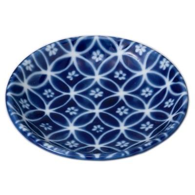 小皿 和食器 / 新瑠璃小皿(七宝) 寸法: 10 x 1.8cm
