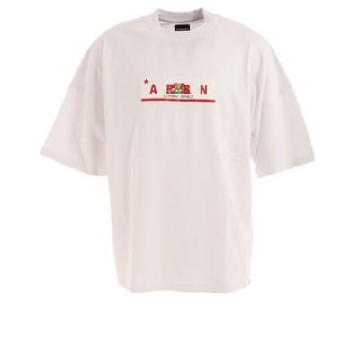 エアボーン(ARBN)Tシャツ メンズ 半袖 カリフォルニア FLAG ARBN21-1005-C-WHT カットソー