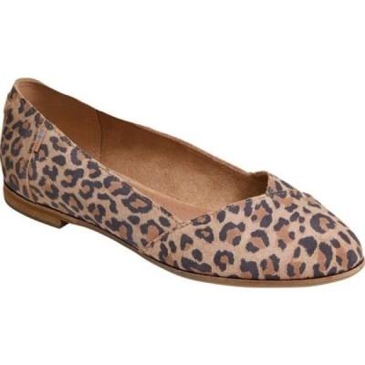 トムス TOMS レディース スリッポン・フラット シューズ・靴 Julie Flat Desert Tan Leopard Print