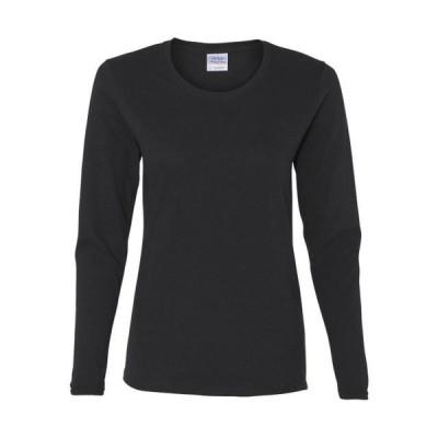 レディース 衣類 トップス Gildan - Heavy Cotton Women's Long Sleeve T-Shirt - 5400L グラフィックティー