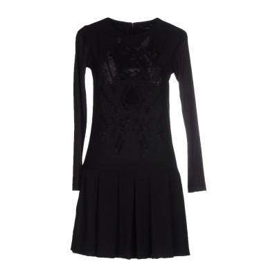 ビブロス BYBLOS ミニワンピース&ドレス ブラック 40 コットン 48% / レーヨン 48% / ポリウレタン 4% ミニワンピース&ドレス
