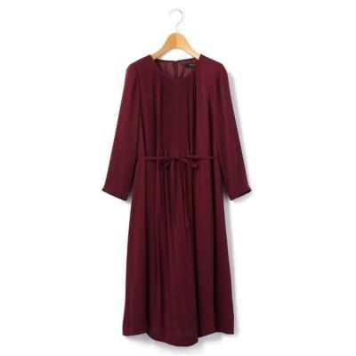 KEITH/キース サテンジョーゼット ドレス レッド 38