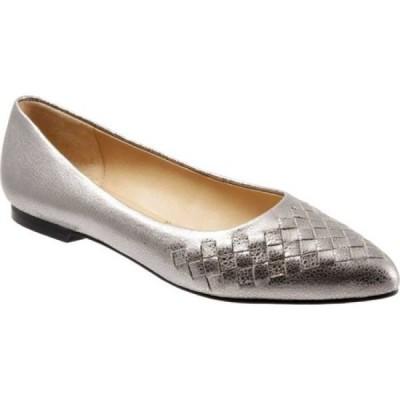 トロッターズ Trotters レディース シューズ・靴 Estee Silver Soft Embossed Metallic Leather