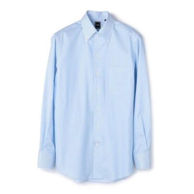 シャツ ブラウス SD: 【MONTI社製生地】カラミ イタリアンボタンダウンシャツ(ライトブルー)
