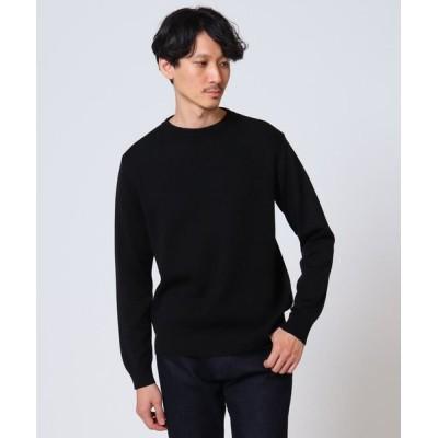 TAKEO KIKUCHI/タケオキクチ 【Sサイズ~】編地切替クルーネックニット ブラック(019) 03(L)