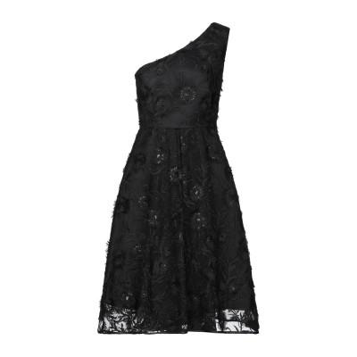 LANACAPRINA ミニワンピース&ドレス ブラック 42 ポリエステル 80% / コットン 20% ミニワンピース&ドレス