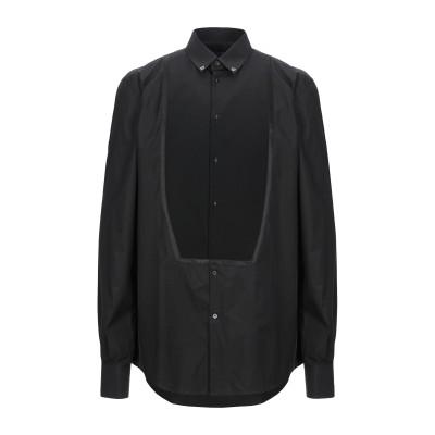 ドルチェ & ガッバーナ DOLCE & GABBANA シャツ ブラック 37 コットン 85% / シルク 15% シャツ