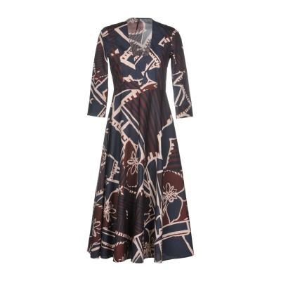 マニラ グレース MANILA GRACE 7分丈ワンピース・ドレス ダークブルー 40 コットン 100% 7分丈ワンピース・ドレス