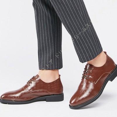 メンズ ウォーキングシューズ スニーカー デイリー カジュアル ビジネス 幅広 ビジネスシューズ 革靴 本革 高級紳士靴 外羽根 ストレートチップ とんがりトゥ