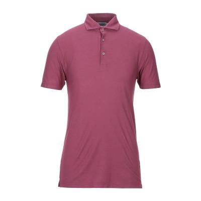 グラン サッソ GRAN SASSO ポロシャツ ボルドー 46 コットン 100% ポロシャツ