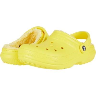 クロックス Crocs レディース クロッグ シューズ・靴 Classic Lined Clog Lemon/Lemon