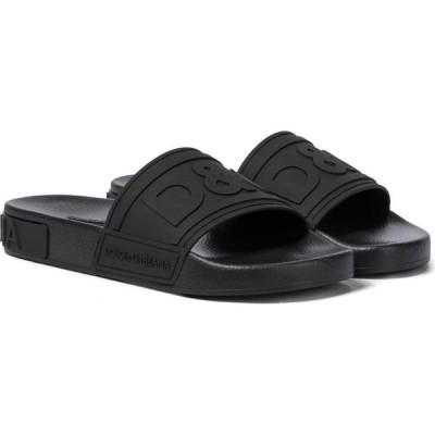ドルチェ&ガッバーナ Dolce & Gabbana レディース サンダル・ミュール シューズ・靴 logo rubber slides Nero/Nero