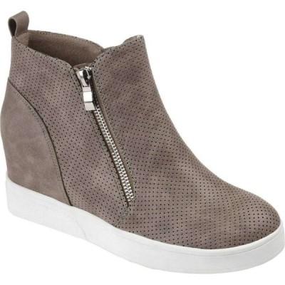 ジュルネ コレクション Journee Collection レディース スニーカー ウェッジソール シューズ・靴 Pennelope Sneaker Wedge Taupe