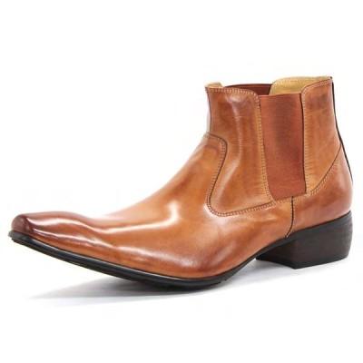 【全商品ポイント10倍】 SARABANDE サラバンド バッファローレザー サイドゴア ブーツ 24.5cm 39サイズ キャメル 1394-CA-39