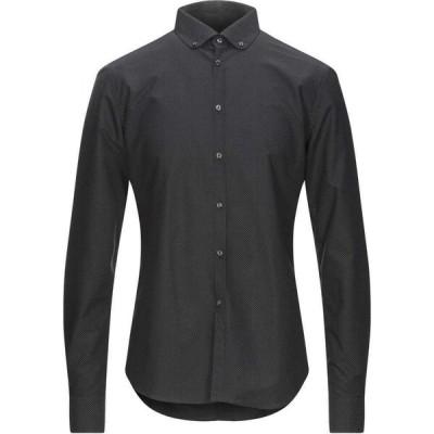 トレンドコルネリアーニ TREND CORNELIANI メンズ シャツ トップス patterned shirt Black