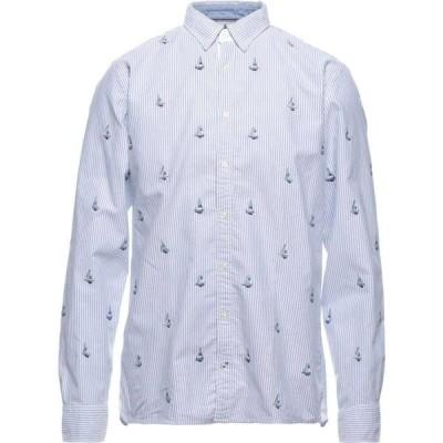 トミー ヒルフィガー TOMMY HILFIGER メンズ シャツ トップス Striped Shirt Blue