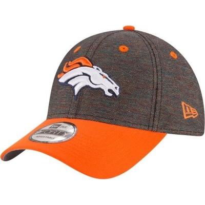 ユニセックス スポーツリーグ フットボール Denver Broncos New Era Vivid Crowner 9FORTY Adjustable Snapback Hat - Black/Orange - OSFA
