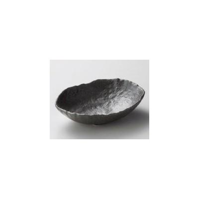 黒釉四ッ足楕円鉢・大きさ21×15×5.5cm和食器04920T107
