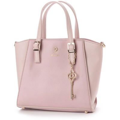 リトルアクセサリーズ LITTLE accessories 素材コンビ2WAYミニトート (ピンク)