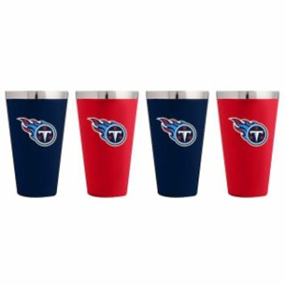 The Memory Company ザ メモリー カンパニー スポーツ用品  Tennessee Titans 4-Pack Matte Color Stainless Steel Pint Glass Set