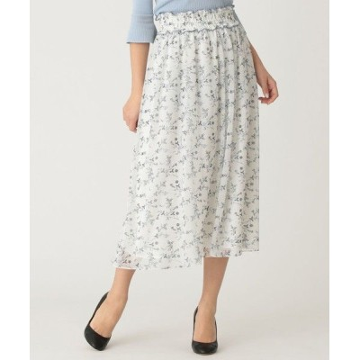 TO BE CHIC/トゥー ビー シック 【WEB限定】【Tricolore】ガーデンプリントスカート オフホワイト1 42