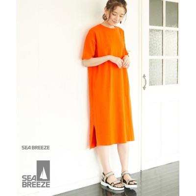 ロペピクニック/【SEABREEZE×ROPE' PICNIC】カラーTシャツワンピース/オレンジ系/38