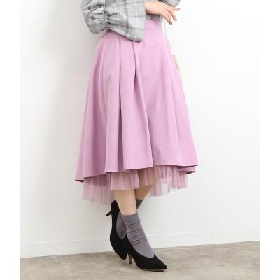 【ロペピクニック/ROPE' PICNIC】 裾チュール見えイレヘムスカート