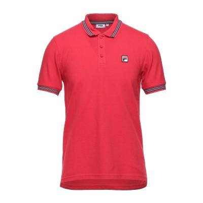 FILA ポロシャツ レッド S コットン 100% ポロシャツ