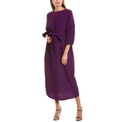 ロザナ ワンピース トップス レディース ROSEANNA Chiffon Silk-Blend Dress purple dark