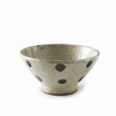 Rikizo 茶碗 クラフトライスボウル 五月雨二色水玉 直径12.6×高さ6.2cm 日本製 R-887295