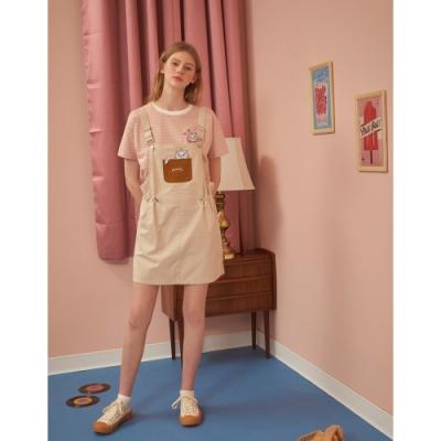 CACO-瑪麗貓縮腰吊帶裙(二色)-親子款-女【B2DI079】