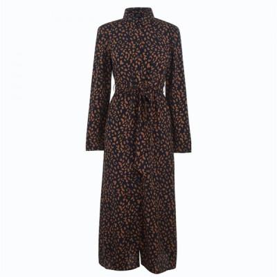 バルドー Bardot レディース ワンピース シャツワンピース ワンピース・ドレス Leopard Shirt Dress Nvy Leopard