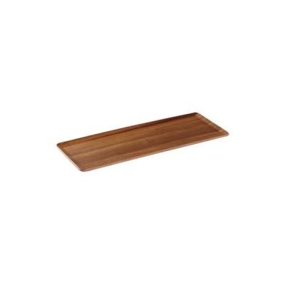 木製 トレー 6枚セットPLACE MAT プレイスマット 36.5x14.5cm  チーク お盆 カフェ おしゃれ〔お取り寄せ商品〕
