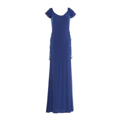 VITTORIA ROMANO ロングワンピース&ドレス ブルー 42 ポリエステル 92% / ポリウレタン 6% / 紡績繊維 2% ロングワン