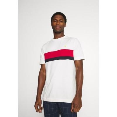ライルアンドスコット メンズ ファッション CUT AND SEW - Print T-shirt - vanilla ice