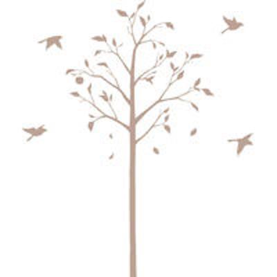 マッチングジャパン東京ステッカー ウォールステッカー 大判 転写 植物【林檎の木と小鳥/BE/S】 TSー0051ーBS (直送品)