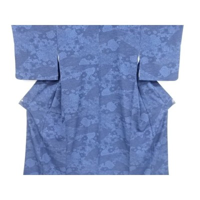 宗sou 本藍型染花古典柄小紋着物【リサイクル】【着】