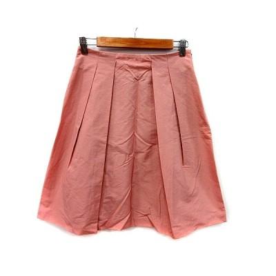 【中古】アナイ ANAYI プリーツスカート ひざ丈 38 ピンク /MS レディース 【ベクトル 古着】