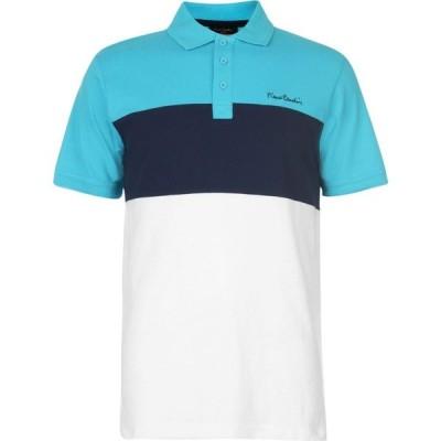 ピエール カルダン Pierre Cardin メンズ ポロシャツ トップス Cut And Sew Polo Shirt White/Turq