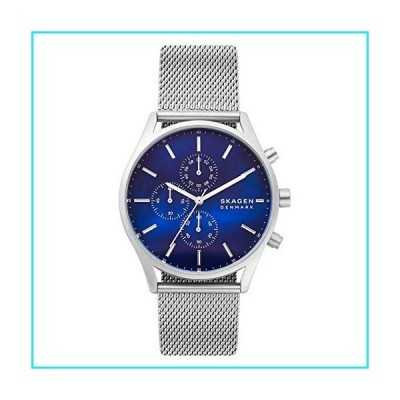 Skagen Men's Holst Quartz Analog Stainless Steel and Stainless Steel Watch, Color: Silver (Model: SKW6652)【並行輸入品】