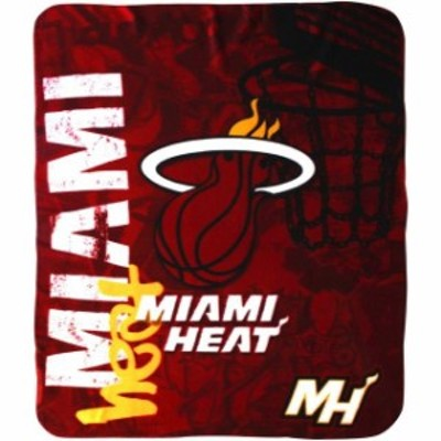 The Northwest Company ザ ノースウエスト カンパニー スポーツ用品  Miami Heat 50 x 60 Hard Knocks Fleece Throw