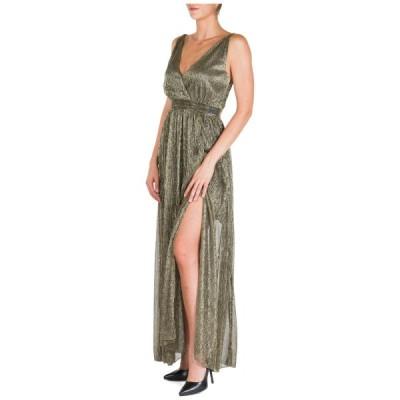 ドレス ブルマリン BE BLUMARINE WOMEN'S LONG GOWN PROM EVENING CEREMONY FORMAL DRESS NEW GOLD E65