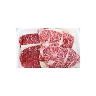 彦根市 ふるさと納税 霜降り肉と赤身肉の食べ比べ!【黒毛和牛牝A5ステーキセット】