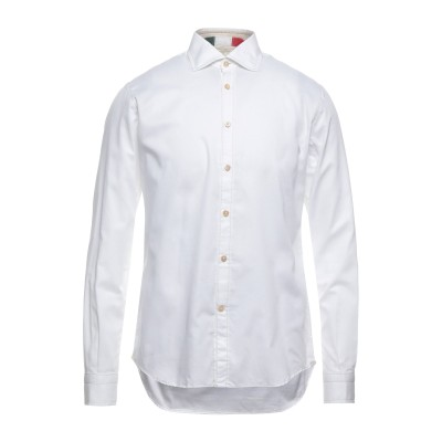 DEL SIENA シャツ ホワイト 39 コットン 100% シャツ