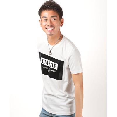 【ラグスタイル】 CMXAPボックスロゴTシャツ/Tシャツ メンズ 半袖 ボックスロゴ プリント メンズ ホワイト M LUXSTYLE