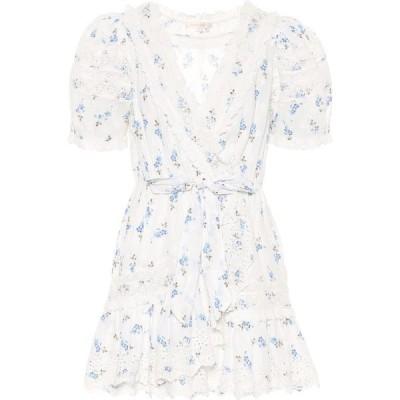 ラブシャックファンシー LoveShackFancy レディース ワンピース ワンピース・ドレス Belen Floral Cotton Minidress Brilliant Blue