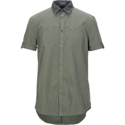 ゲス GUESS メンズ シャツ トップス solid color shirt Military green