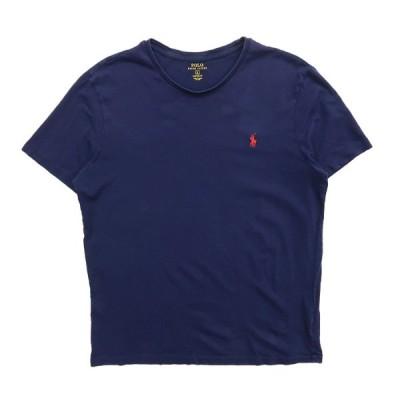 古着 ラルフローレン POLO RALPH LAUREN Tシャツ ワンポイント ネイビー サイズ表記:L